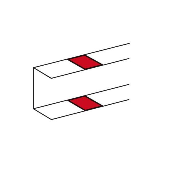 Накладка на стык с защелками для кабель-каналов 50х105 Leg 010696