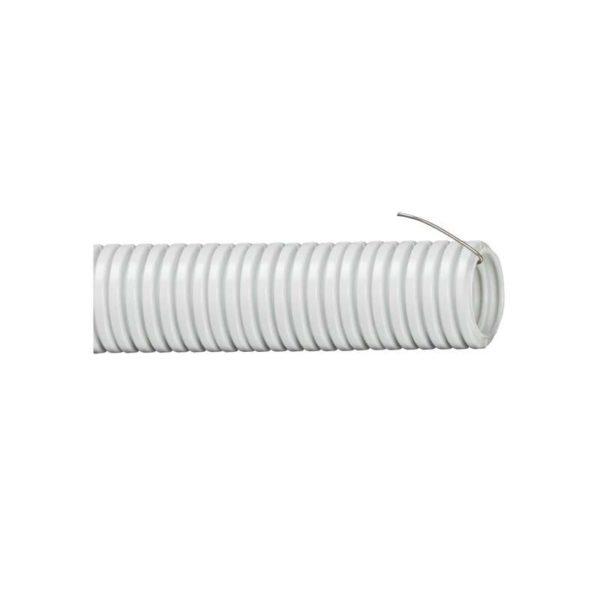 Труба гофрированная ПВХ d32мм с зондом сер. (уп.10м) ИЭК CTG20-32-K41-010I