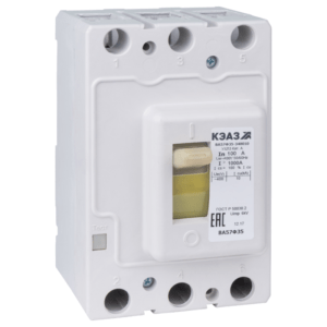 Выключатель автоматический 125А 1250Im ВА57Ф35-340010 УХЛ3 400В AC КЭАЗ 109296