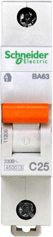 Выключатель автоматический модульный 1п C 25А 4.5кА ВА63 Домовой SchE 11205