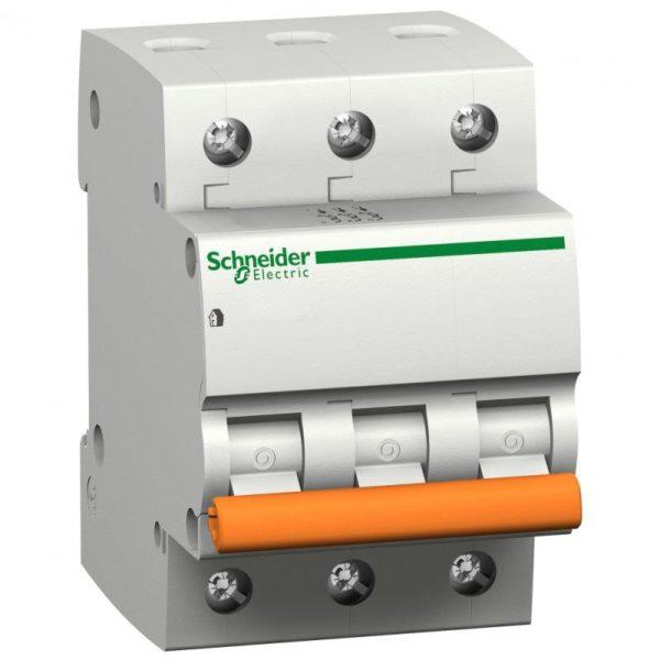 Выключатель автоматический модульный 3п C 50А 4.5кА BA63 Домовой SchE 11228