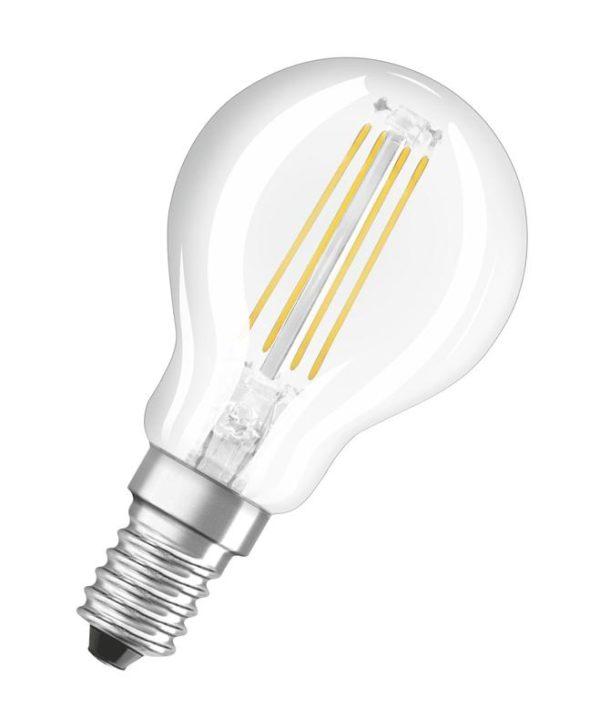 Лампа светодиодная филаментная LED STAR CLASSIC P 60 5W/827 5Вт шар 2700К тепл.бел E14 600лм 220-240