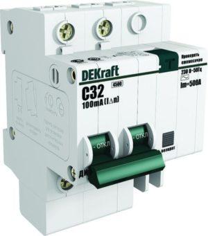 Выключатель автоматический дифференциального тока 2п C 20А 30мА тип AC 4.5кА ДИФ-101 4.5мод. SchE 15