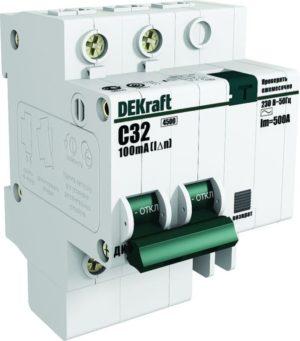 Выключатель авт. диф. тока со встроенной защитой от сверхтоков 1п+N 16А 30мА AC C ДИФ-101 SchE 15157