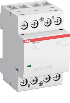 Контактор ESB40-40N-06 модульный (40А АС-1 4НО) катушка 230В AC/DC ABB 1SAE341111R0640
