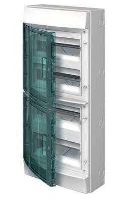 Бокс настенный 48М прозр. дверь Mistral65 (с клемм) ABB 1SLM006501A1207