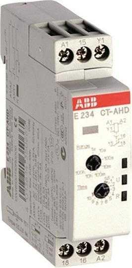 Реле времени CT-AHD 24-48В DC 24-240В AC (0.05с-100ч) 1ПК ABB 1SVR500110R0000