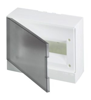 Бокс настенный Basic E 12М сер. прозр. дверь (с клемм) ABB 1SZR004002A2204