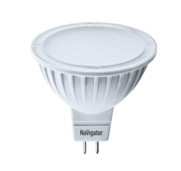 Лампа светодиодная 94 263 NLL-MR16-5-230-3K-GU5.3 5Вт 3000К тепл. бел. GU5.3 360лм 170-260В Navigato