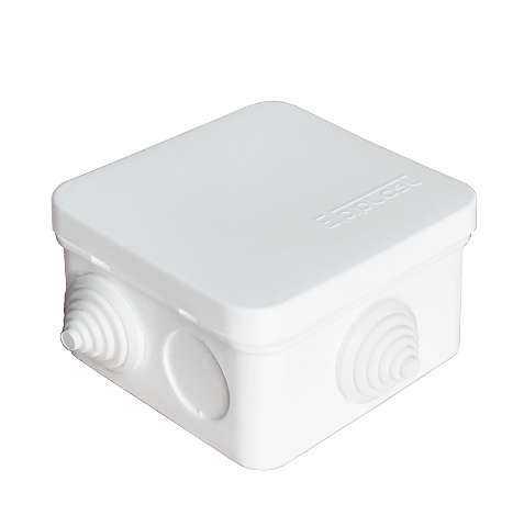 Коробка распределительная ОП 75х75х45мм IP54 7 выходов 3 гермоввода крышка защелкивающаяся бел. Eppl