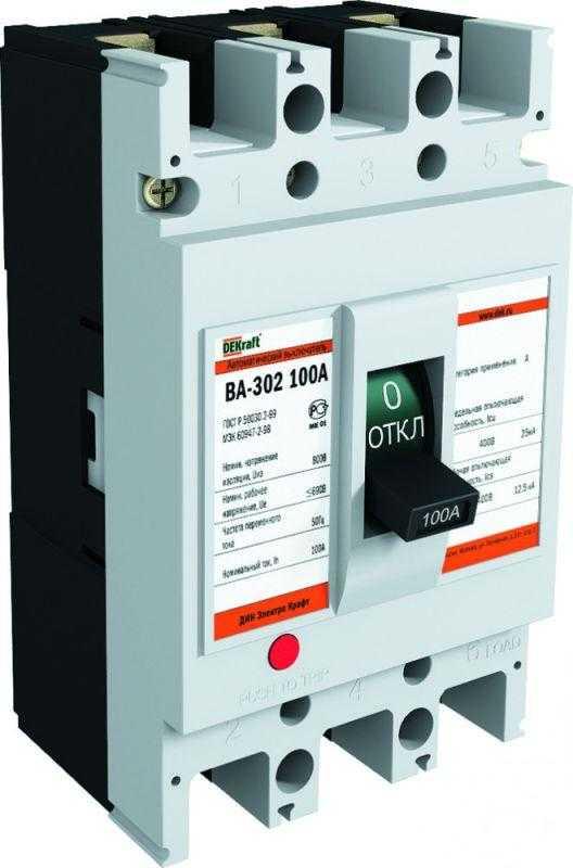 Выключатель автоматический 3п 100А 25кА ВА-302 SchE 21008DEK