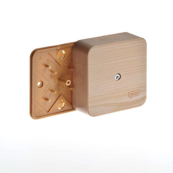 Коробка универсальная для кабель-каналов 80х80х25 сосна (светл. основа) IP40 Рувинил 65005-27М