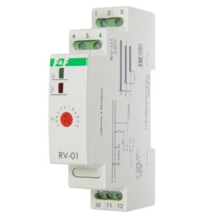 Реле времени RV-01 (задержка вкл. (1..120сек) 230В 16А 1перекл. IP20 монтаж на DIN-рейке) F&F EA02.0