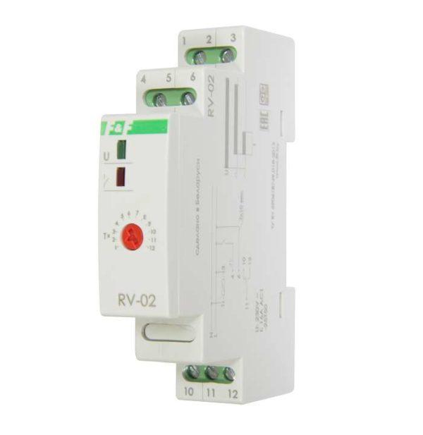 Реле времени RV-02 (задержка выкл. (1..120сек) 230В 16А 1перекл. IP20 монтаж на DIN-рейке) F&F EA02.