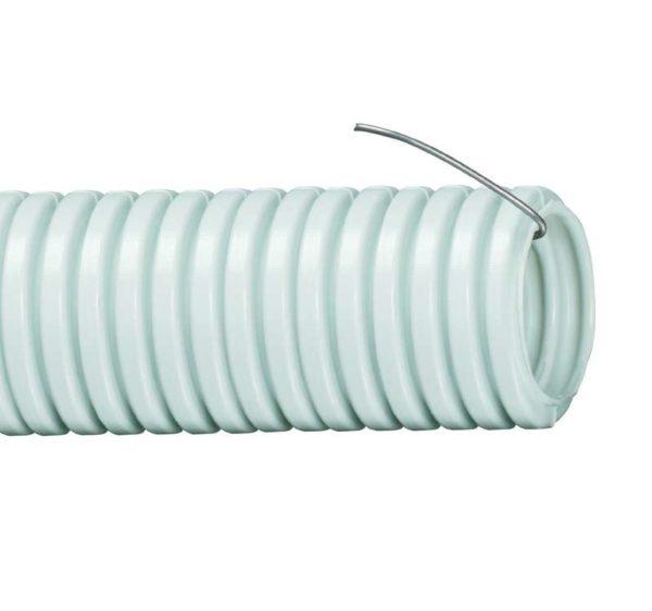 Труба гофрированная ПВХ d63мм с зондом сер. (уп.15м) ИЭК CTG20-63-K41-015I