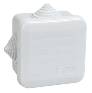 Коробка распаячная ОП 70х70х40 IP44 КМ41236 (4 гермоввода) ИЭК UKOZ11-070-070-040-K41-44