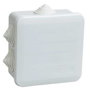 Коробка распаячная ОП 100х100х50 IP44 КМ41255 ИЭК UKOZ11-100-100-050-K41-44
