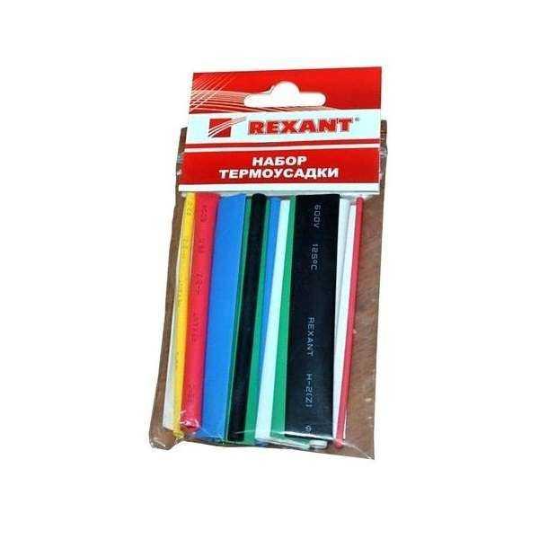 Набор трубок термоусадочных тонкостен. №3 (АССОРТИ) разноцвет. Rexant 29-0103