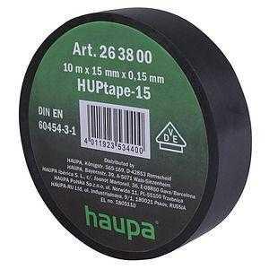 Изолента ПВХ 19мм (рул.20м) черн. HAUPA 263842