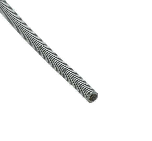 Труба гофрированная ПВХ d16мм с зондом сер. (50м) Рувинил 11601(50)