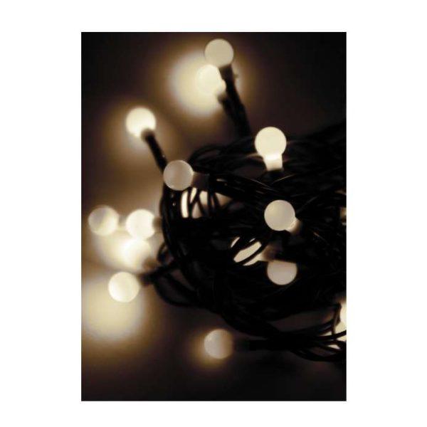 "Гирлянда декоративная ""Маленькие шарики cherry"" 30LED 4.4м (2.9+1.5м) зел. провод IP20 тепл. бел. Ко"