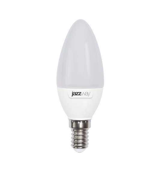 Лампа светодиодная PLED-SP C37 7Вт свеча 5000К холод. бел. E14 560лм 230В JazzWay 1027832-2