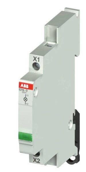 Лампа индикаторная 115-250В AC E219-D зел. ABB 2CCA703402R0001