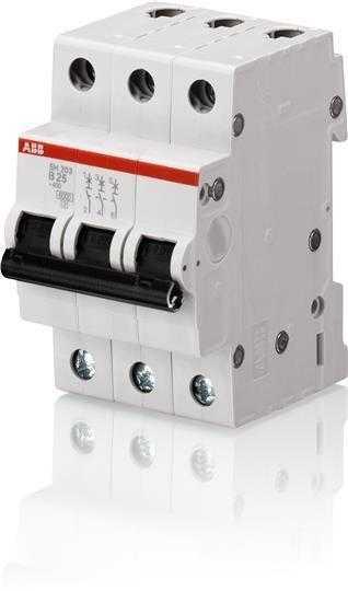 Выключатель автоматический модульный 3п C 25А 6кА SH203 C 25 ABB 2CDS213001R0254
