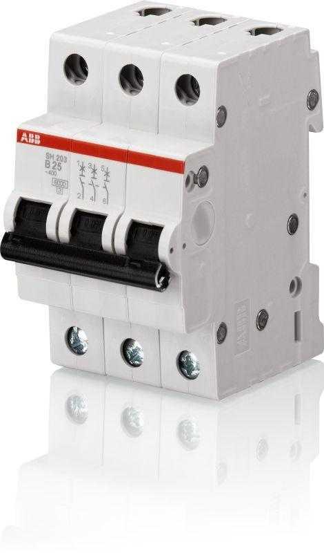 Выключатель автоматический модульный 3п C 6А 4.5кА SH203L C6 ABB 2CDS243001R0064
