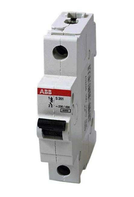 Выключатель автоматический модульный 1п C 4А 6кА S201 C4 ABB 2CDS251001R0044