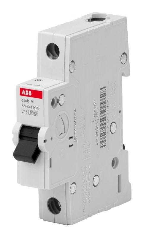 Выключатель автоматический модульный 1п C 63А 4.5кА Basic M BMS411C63 ABB 2CDS641041R0634