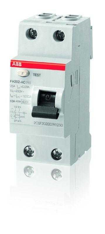 Выключатель дифференциального тока (УЗО) 2п 40А 30мА тип AC FH202 ABB 2CSF202004R1400
