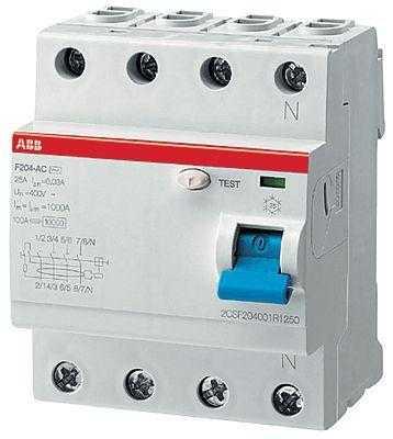 Выключатель дифференциального тока (УЗО) 4п 63А 300мА тип AC F204 ABB 2CSF204001R3630