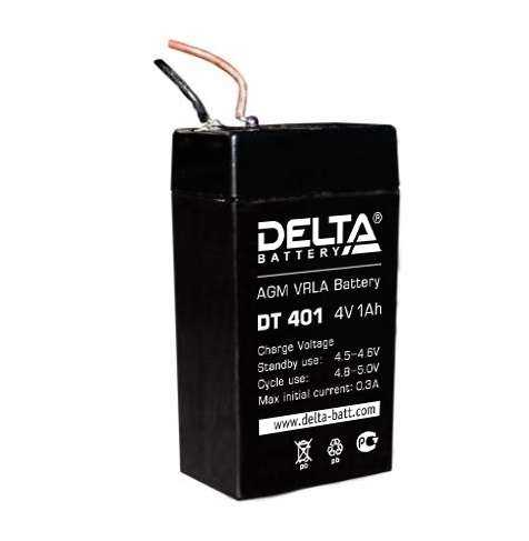 Аккумулятор для фонарей ТРОФИ 4В 1.0А.ч Delta DT 401