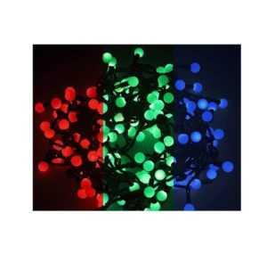 "Гирлянда ""LED-Шарики"" 5м d=18мм 30LED RGB темно-зел. провод 3.6Вт 220В IP20 NEON-NIGHT 303-549"