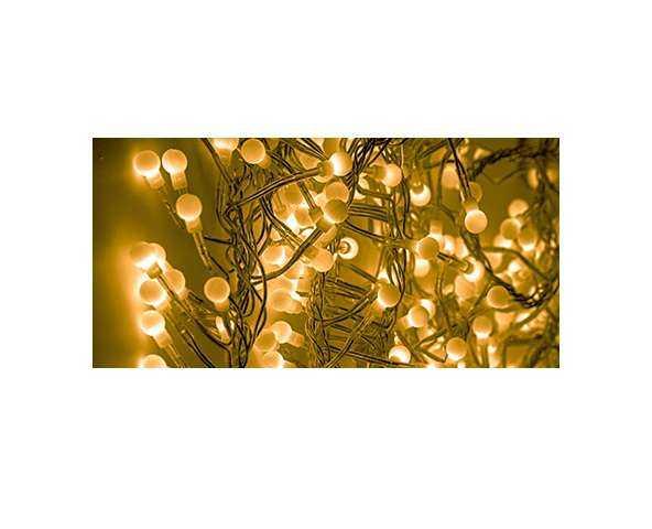 """Гирлянда """"Мишура LED"""" 3м 288LED жел. прозр. провод 18Вт 220В IP20 NEON-NIGHT 303-601"""