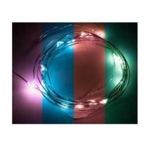 """Гирлянда """"Роса"""" 2м 20LED RGB 5Вт 4.5В IP20 прозр. провод (2хCR2032 в комплекте) NEON-NIGHT 303-009"""