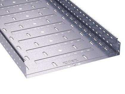 Лоток листовой перфорированный 400х80 L3000 сталь 1мм DKC 35306