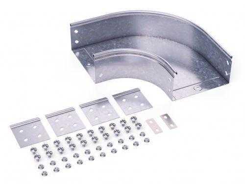Угол для лотка горизонтальный 90град. 200х100 CPO 90 в комплекте с крепеж. элементами DKC 36043K