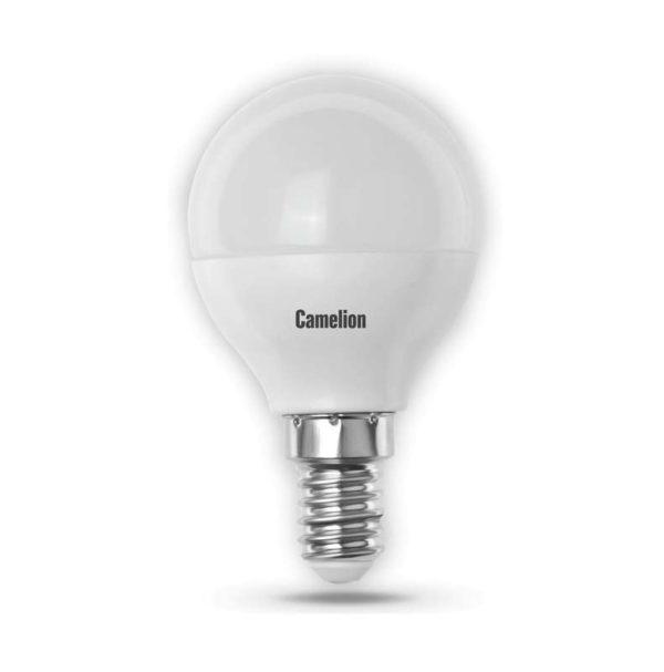 Лампа светодиодная LED5-G45/830/E14 5Вт шар 3000К тепл. бел. E14 390лм 220-240В Camelion 12027