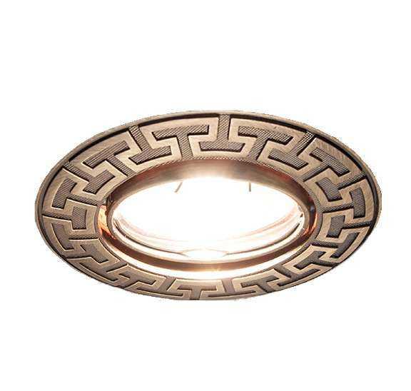 Светильник Afina 51 1 19 литой поворот. MR16 состаренная бронза ИТАЛМАК IT8400