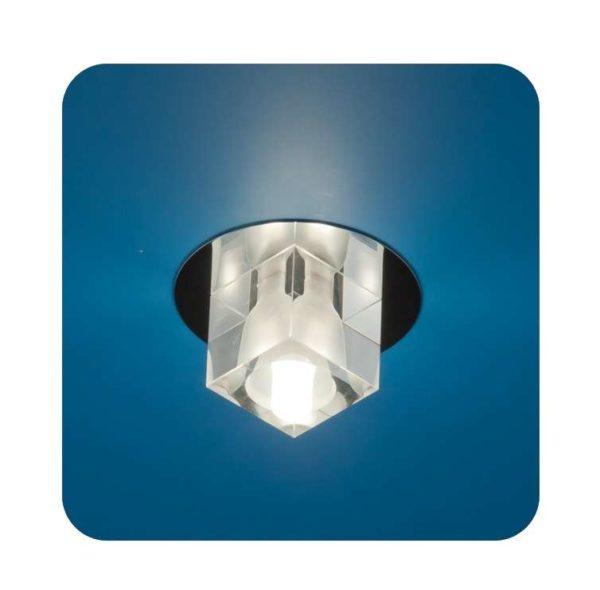 Светильник Ice 12 3 05 с огран. стеклом куб хром G4 ИТАЛМАК IT8064