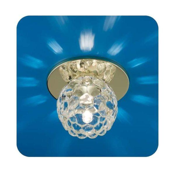 Светильник Ice 12 5 04 с огран. стеклом цветок зол. G4/G5.3 ИТАЛМАК IT8168
