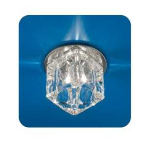 Светильник Ice 12 7 05 с огран. стеклом куб большой хром G4 ИТАЛМАК IT8068