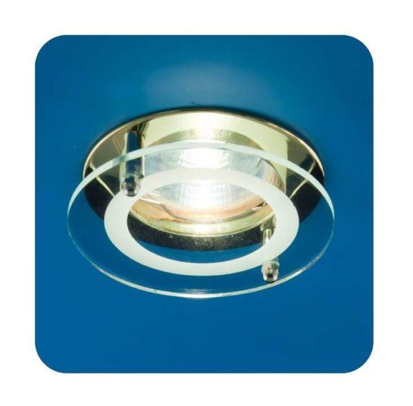 Светильник Quartz 51 2 04 с накладным стеклом круглый MR16 зол. ИТАЛМАК IT8055