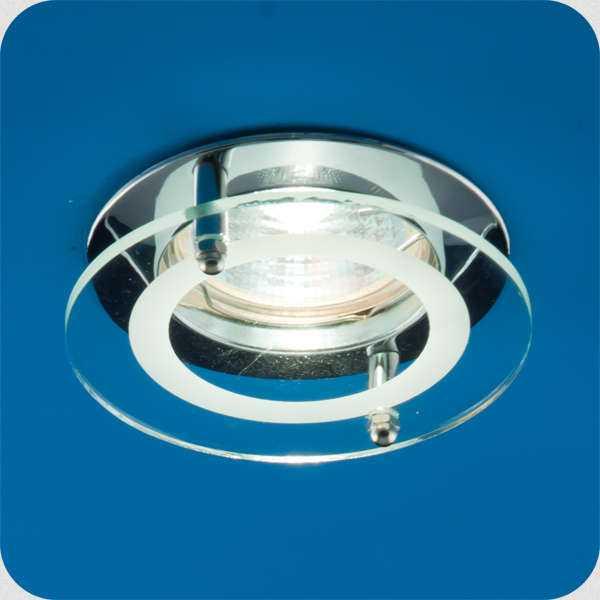 Светильник Quartz 51 2 05 с накладным стеклом круглый MR16 хром ИТАЛМАК IT8056