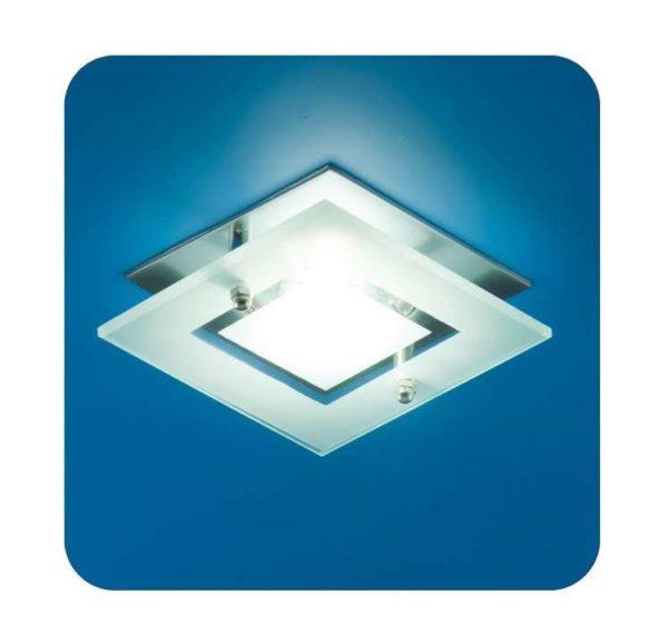 Светильник Quartz 51 3 12 с накладным стеклом квадрат. MR16 мат. хром ИТАЛМАК IT8060