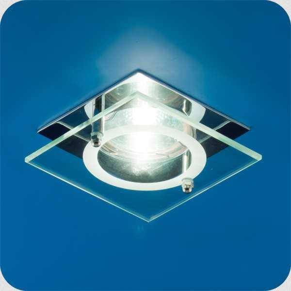 Светильник Quartz 51 4 05 с накладным стеклом квадрат. MR16 хром ИТАЛМАК IT8062