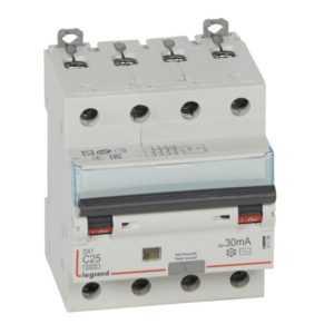 Выключатель автоматический дифференциального тока 4п C 25А 30мА тип AC 6кА DX3 4мод. Leg 411188