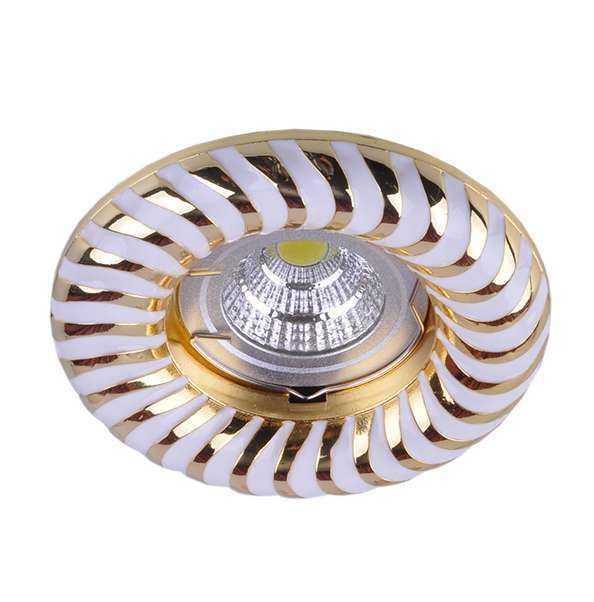 Светильник Regal 51 4 46 литой неповорот. MR16 бел./зол. ИТАЛМАК IT8546